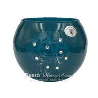 Vasetto vetro sfera ottanio